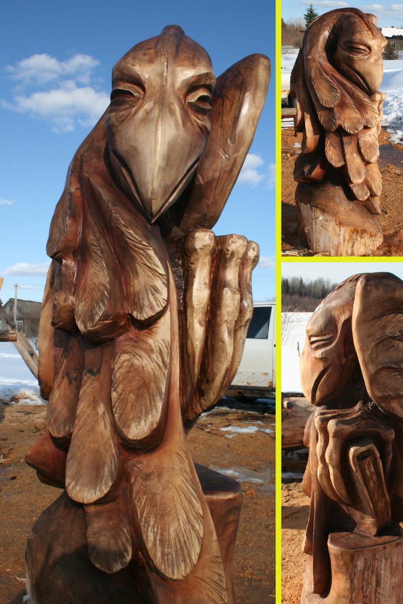 Деревянные скульптуры своими руками фото 76